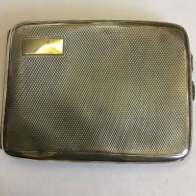 Vintage Solid Silver Engine Turned Cigarette Case 1927 132g Levi & Salaman