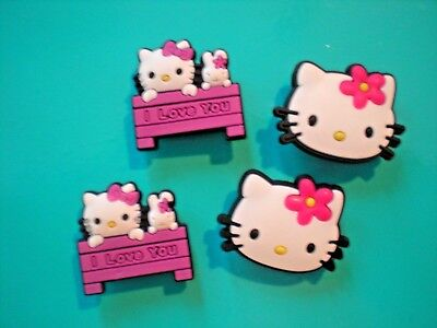 Clog Shoe Plug Charm Fit Holey Button Accessories Wristband 4 Hello Kitty