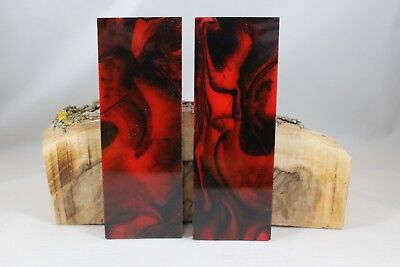Red Black Custom Composite Knife Handle Material Blank Scales (13)