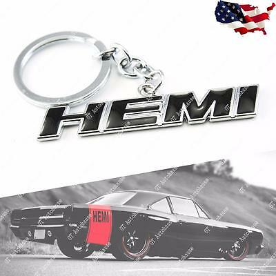 HEMI 3D Key chain Stainless key Anello Black for Dodge RAM Chrysler Jeep Charger