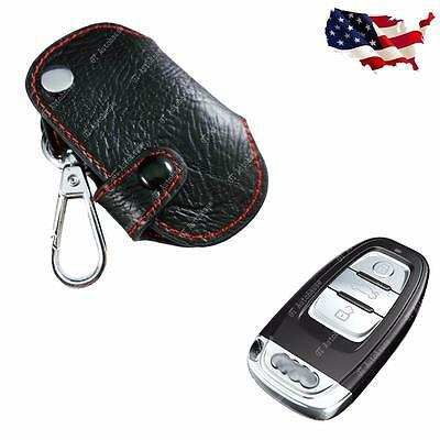 Premium Leather Folding Key Fob Cover Cover Keychain For Audi A4 A5 A6 A7 A8