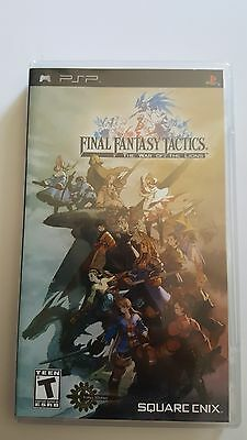 1st Edition Final Fantasy Tactics The War of The Lions Sony PSP Complete CIB D25