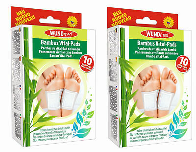 20 x Bambus Vital Pflaster Pads Detox Fusspflaster Entgiftungspflaster Wundmed