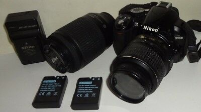 Nikon Digital SLR Camera D3100 18-55mm 55-200mm