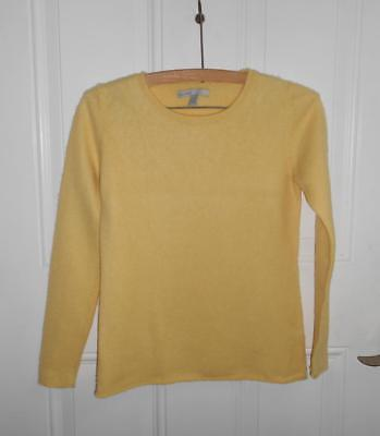 Old Navy Cashmere Sweater L Kids Yellow Crewneck Long Sleeves Knit Pullover