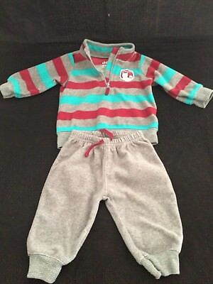 7485774d046a CHILD OF MINE By Carter s 0-3 Month Baby Boy Fleece Outfit Sweater ...