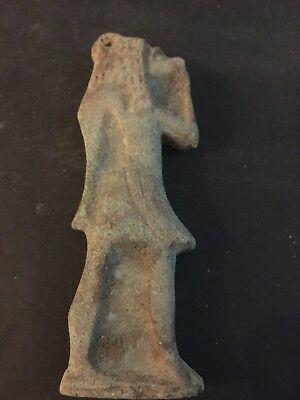 Rare Ancient Egyptian Faience Pendant Anubis 650-530 BC