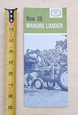 1950s? EARLY john deere brochure NEW 36 MANURE LOADER  FARM FRESH MACHINERY TOOL