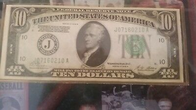 $10 Federal Reserve Note SERIES 1928 B CRISP UNCICULATED