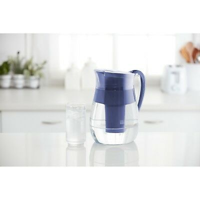 Brita Monterey Water Pitcher with 1 Longlast Filter - 10 cup - BPA Free - Blue