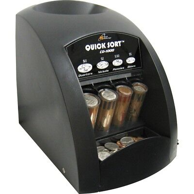 Royal Sovereign 1 row coin sorter 240 coins/min with anti jam technology, Black
