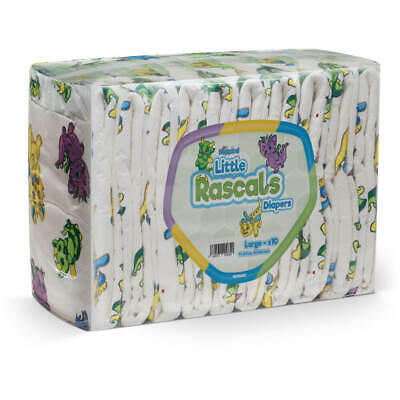 Adult Nappy / NRU Little Rascals (PE Backed) - Large - Pack of 10