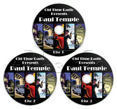 Paul Temple (OTR) 131 Episodes - Complete Old Time Radio Collection (mp3 CD x 3)