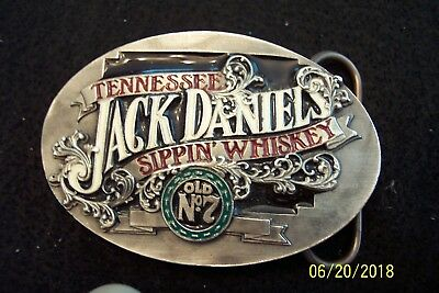 Jack Daniels Belt Buckle -- Tennessee  Sippin' Whiskey  Old No. 7