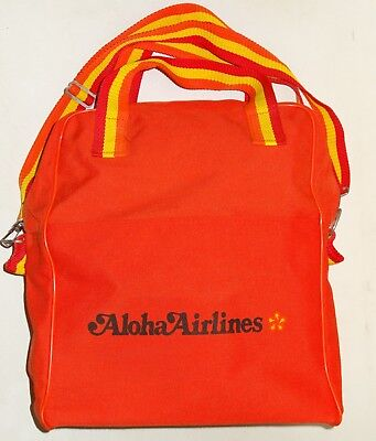 Vintage Aloha Airlines Nylon Backpack Bag Used Pre-Owned Pre-owned