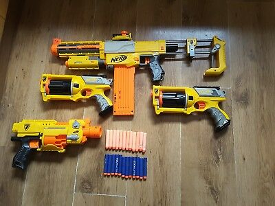 Nerf Gun Bundle, Recon CS-6, Barricade RV-10, 2 x Maverick Rev 6 + Bullets