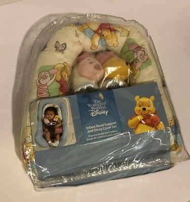 Disney Infant Head Support and Strap Cover Set Winnie the Pooh