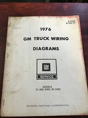 1976 chevy gm truck wiring diagrams st-352-76 1/2-1
