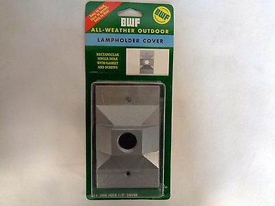 New Bwf All-Weather Outdoor Lampholder Cover (Single Gray)