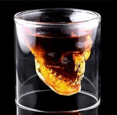 Skull Head Whiskey Tequila Shot Glass Fun Creative Beer Wine Cup Party Drinkware