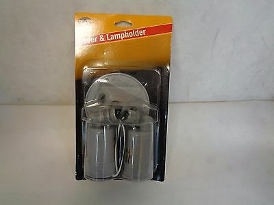 New Bell Outdoor Cover& Lampholder 5625-5 (Double Lamp Gray)