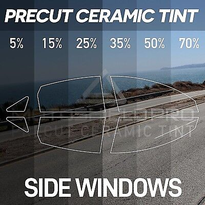 PreCut Ceramic Tint For All Side Windows 16-18 Tesla Model X with panoramic roof