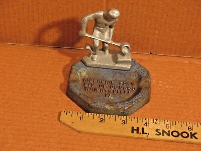 VINTAGE ADVERTISING CAST IRON ASHTRAY RIVERSIDE FOUNDRY Wrightsville Pa