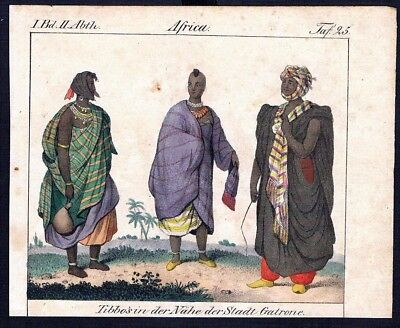 1830 - Saudi Arabia Africa Asia costumes Trachten Lithographie litho