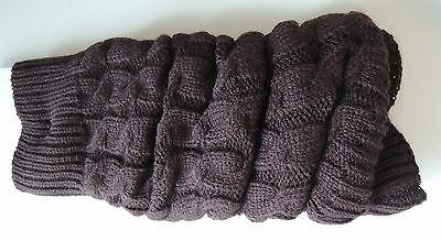 JCP Cable-Knit Leg Warmers - Brown - BNWT