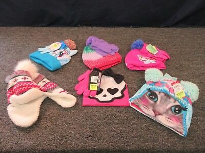 6 Girls Youth Winter Clothing Accessories Hat Beanie Gloves My Little Pony Spk