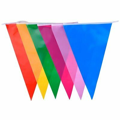 Multicolor Polyester Bunting Banner Double Sided Indoor/ Outdoor Party Deco L4I2