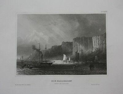 1840 - Hudson River Palisades New Jersey New York Amerika engraving Stahlstich