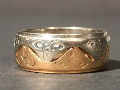 14K Two-tone Yellow and White Gold Band 6.38grams Scrap or Wear