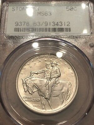 PCGS MS63 Stone Mountain Commemorative half dollar.