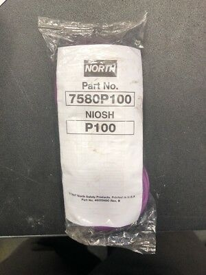 "Brand New ""north"" Particulate Filter Cartridge P100 Part # 7580P100 Niosh P100"