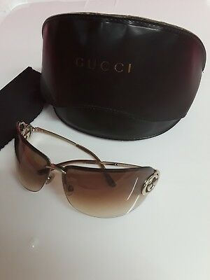1544c97d3a GUCCI SUNGLASSES Women s Black and White Frames With Case -  99.99 ...