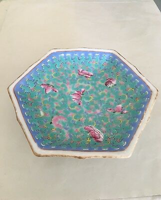 Antique Chinese Hexagonal Bowl
