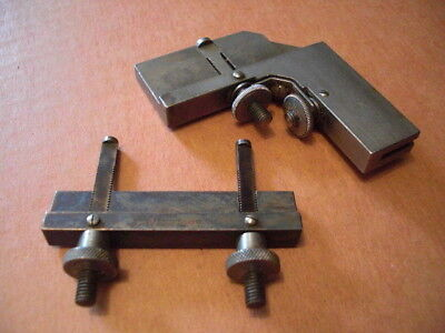 2 Vintage Lufkin No.18B Attachment Right Angle Clamp AND No. 8 Rule Clamp