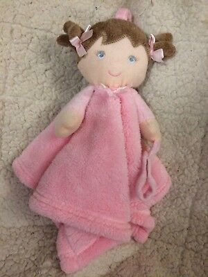 Blankets And & Beyond Baby Girls Security Blanket Pink Blonde Doll Chevron