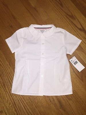 Girls_White_Button-up_Peter Pan Collar Blouse_Uniform_Size 6