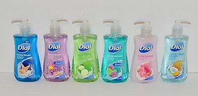 Lot of 6 Dial Hand Soap 7.5 FL OZ Each Assorted Scents Brand New