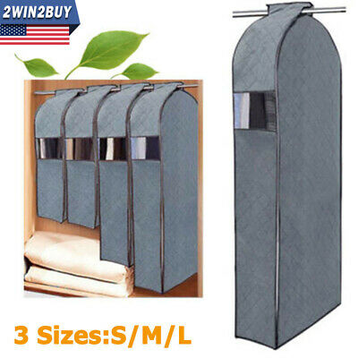 Clothes Garment Dustproof Cover Suit Coat Hanging Storage Bag 3D Protector Large