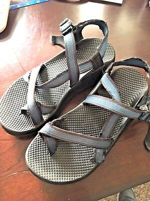 00a55dfc29ea CHACO MEN S FLIP-FLOPS Sandals Blue Brown Ribbon Men s SIZE 9 ...