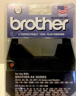 2 - BROTHER Correctable Ribbons - 1030 Film Ribbon - Brother 1030 - NEW!