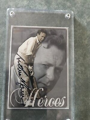 Invincible Arthur Morris Hand Signed Cricket Card