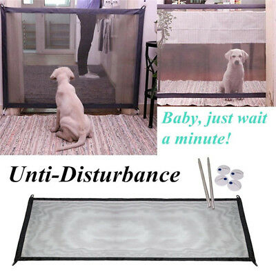 Mesh Magic Dog Gate Barrier Fence Guard&Install Anywhere Pet Safety Enclosure