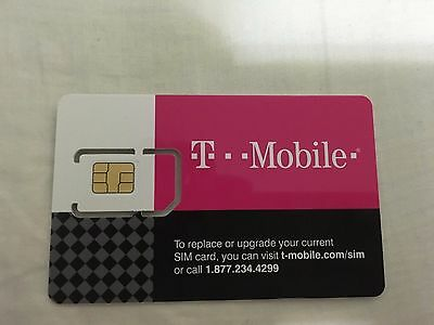 T-MOBILE PRE-ACTIVATED PREPAID SIM (Sim only- no shipping) $3/month. lot of 10