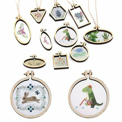 Mini Wooden Hoop/Ring Embroidery Frame Cross Stitch Sewing DIY Crafts Tool Set