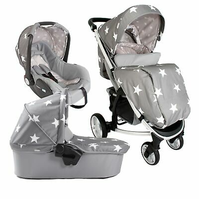 My Babiie MB200+ Baby / Child Travel System - Billie Faiers Grey Stars