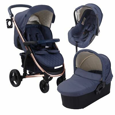 My Babiie MB200+ Baby / Child Travel System - Billie Faiers Rose Gold & Navy
